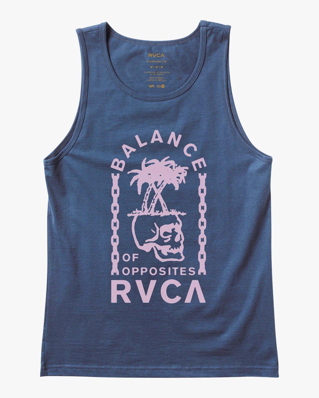 0 Bad Palms Tank Top Blue M481URBA RVCA