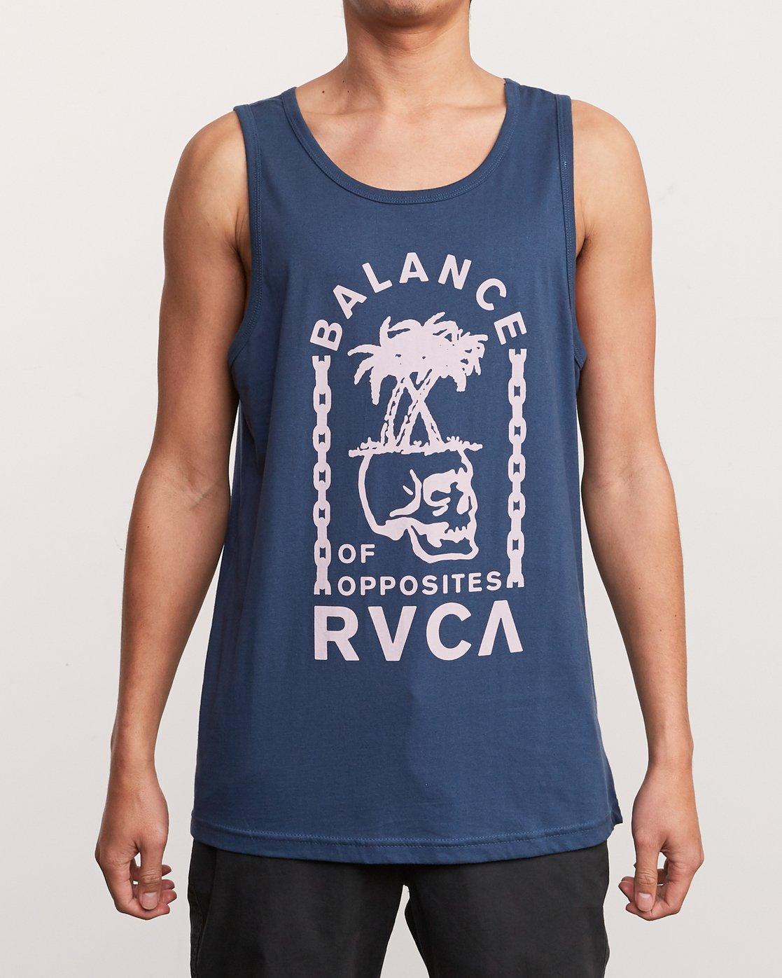 1 Bad Palms Tank Top Blue M481URBA RVCA