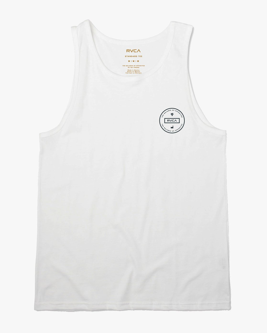 1 Induseal Tank Top White M481URIN RVCA