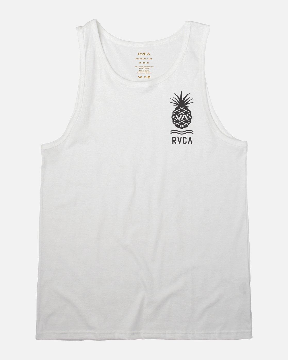 1 Rising Pineapple Tank Top White M481URRP RVCA