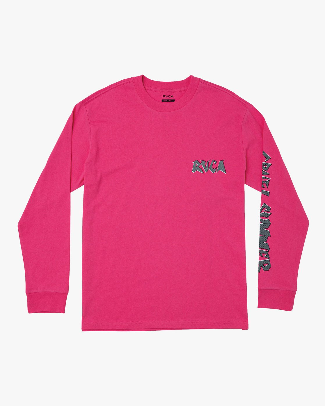 0 CRUEL SUMMER LONG SLEEVE T-SHIRT Pink M4921RCR RVCA