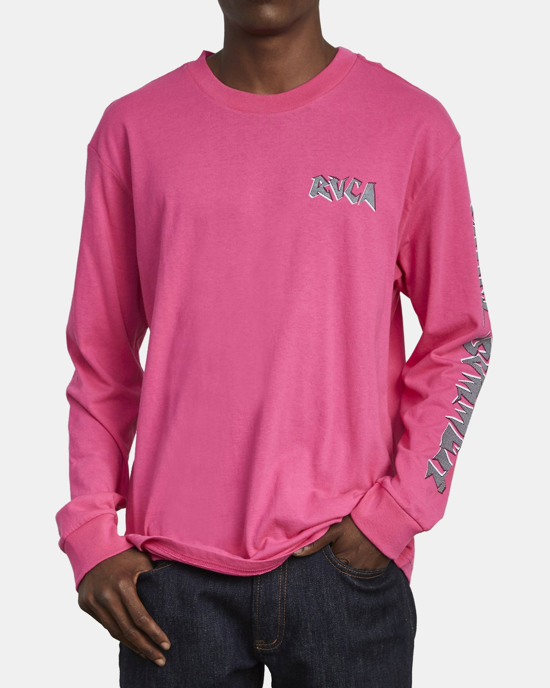 2 CRUEL SUMMER LONG SLEEVE T-SHIRT Pink M4921RCR RVCA