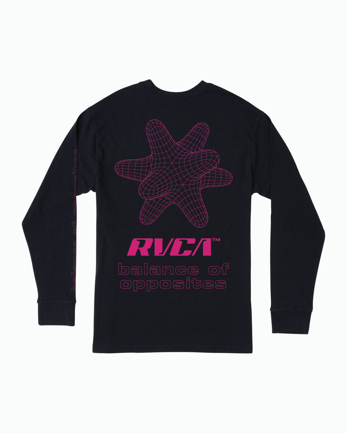 3 VIRGO LONG SLEEVE T-SHIRT Black M4921RVO RVCA