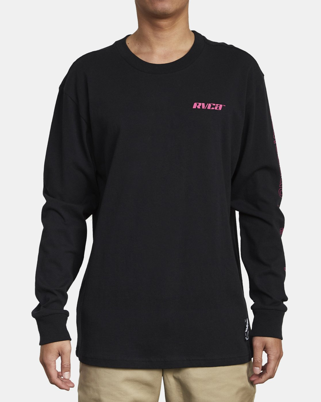 4 VIRGO LONG SLEEVE T-SHIRT Black M4921RVO RVCA