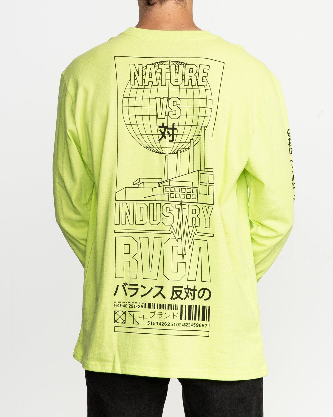 4 Super Fun Long Sleeve T-Shirt Yellow M492TRSU RVCA