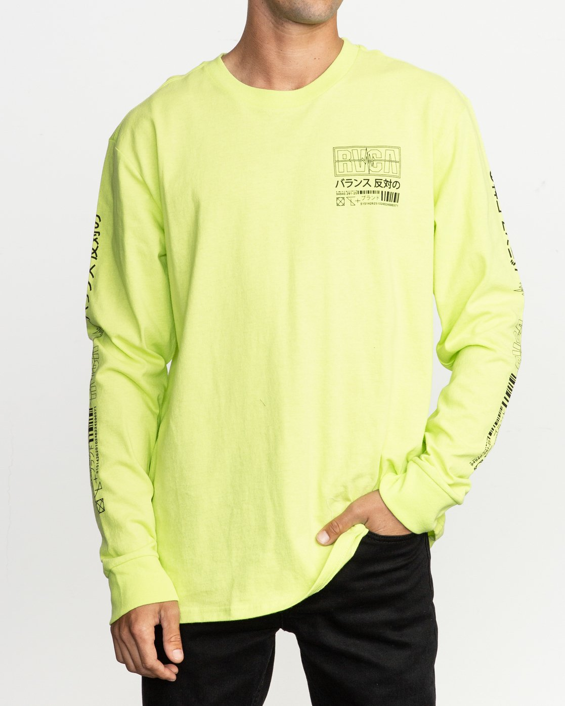 2 Super Fun Long Sleeve T-Shirt Yellow M492TRSU RVCA