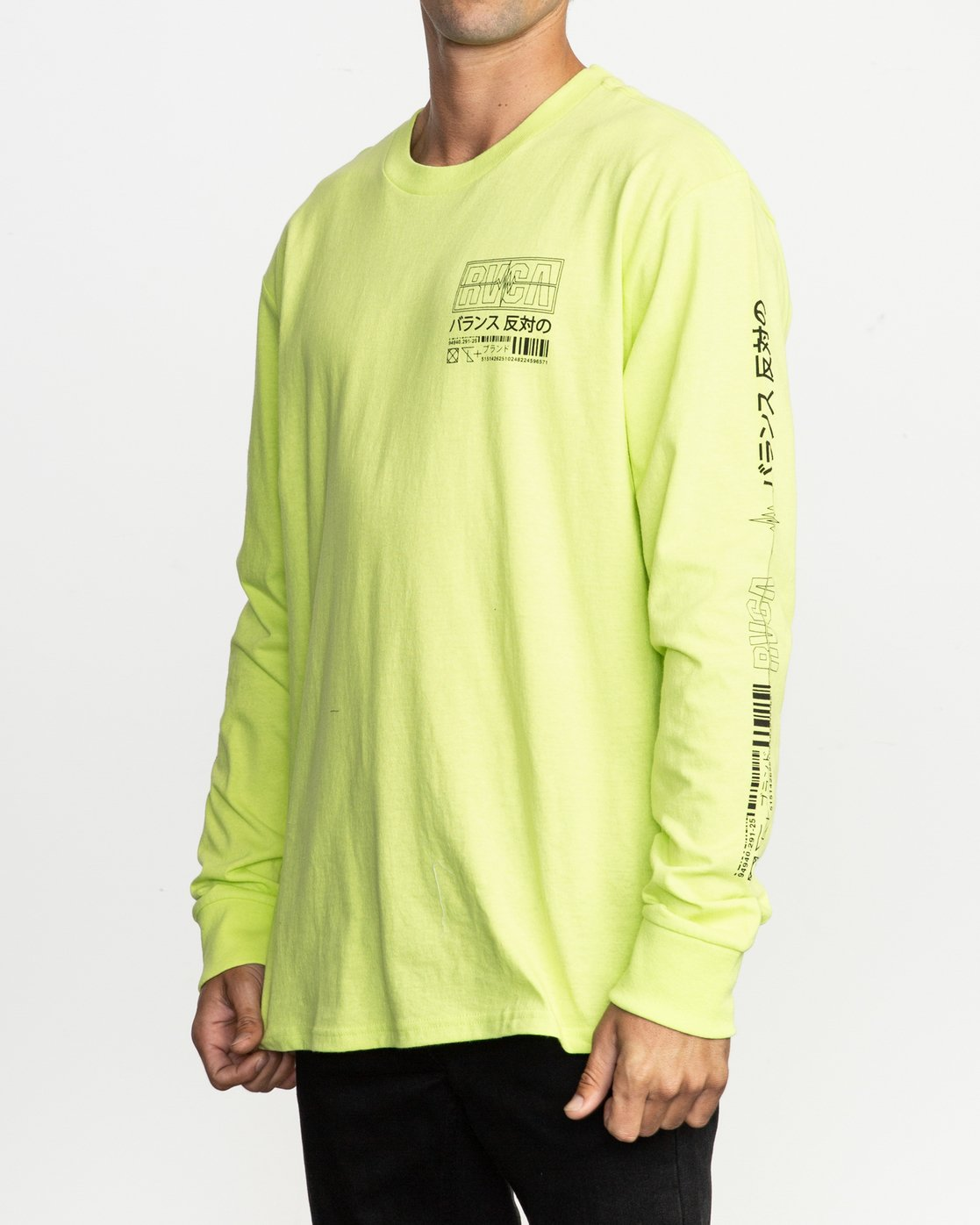 3 Super Fun Long Sleeve T-Shirt Yellow M492TRSU RVCA