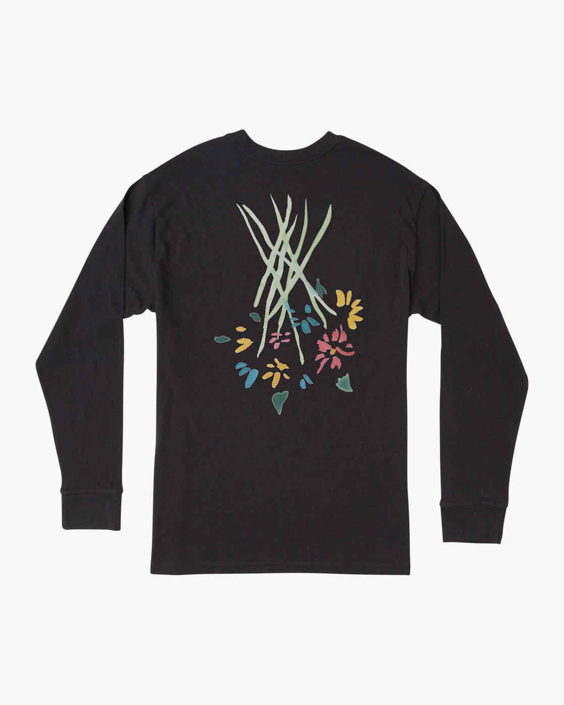 0 AR Lottie Flower Long Sleeve T-Shirt Black M492URLF RVCA
