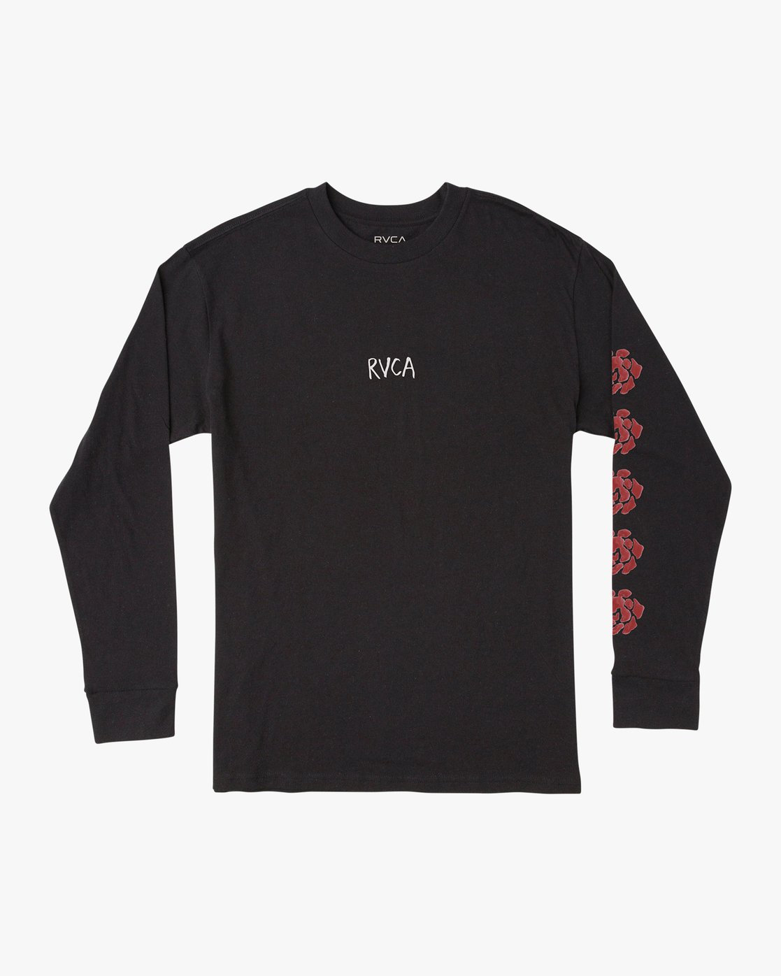 1 AR Lottie Flower Long Sleeve T-Shirt Black M492URLF RVCA