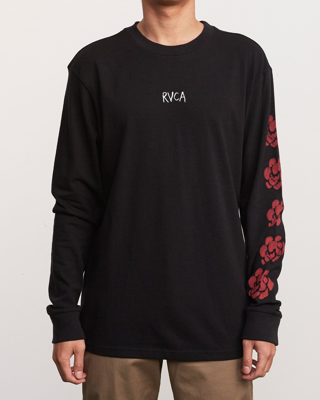 3 AR Lottie Flower Long Sleeve T-Shirt Black M492URLF RVCA