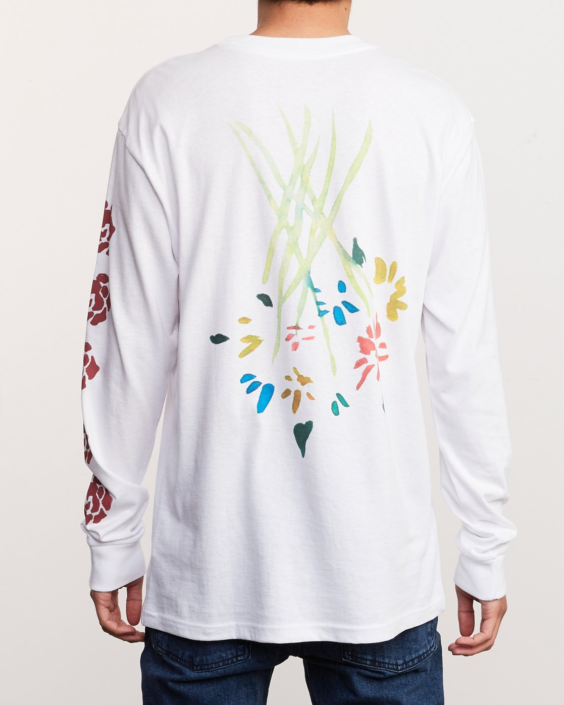 4 AR Lottie Flower Long Sleeve T-Shirt White M492URLF RVCA