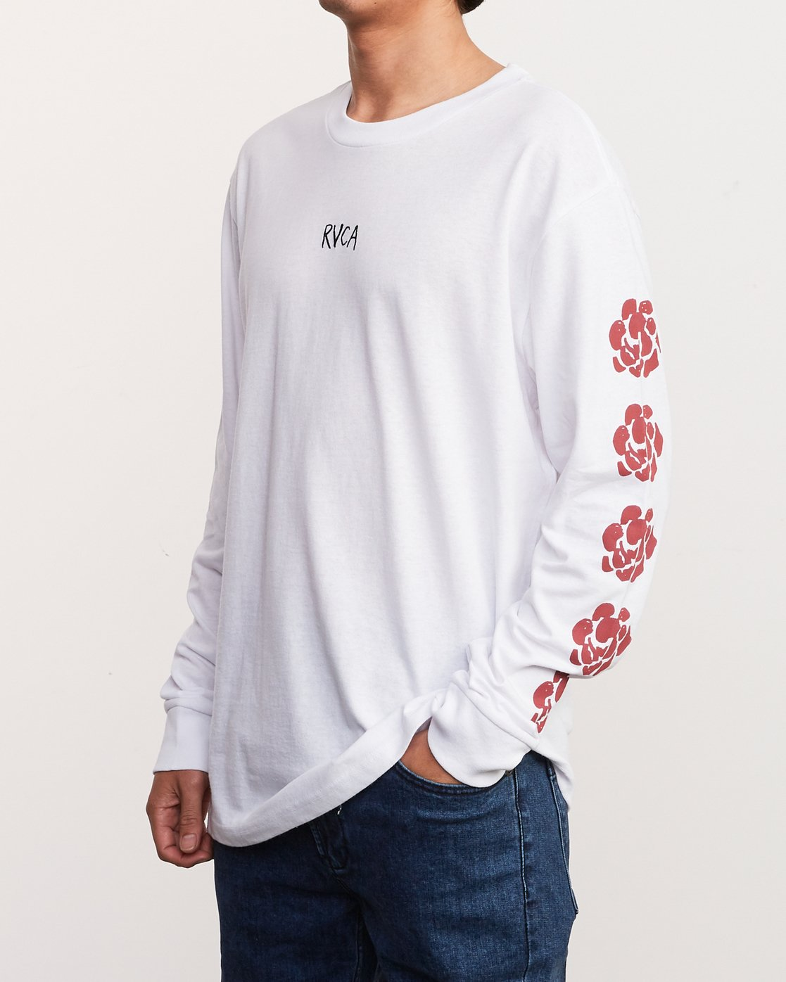 3 AR Lottie Flower Long Sleeve T-Shirt White M492URLF RVCA