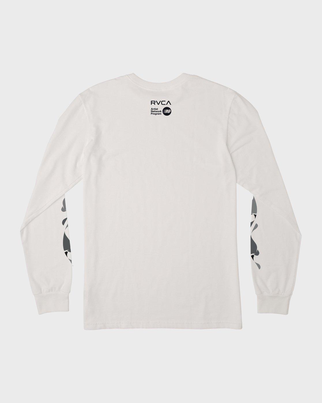 1 Mhak Tokyo Long Sleeve T-Shirt White M492VRMH RVCA