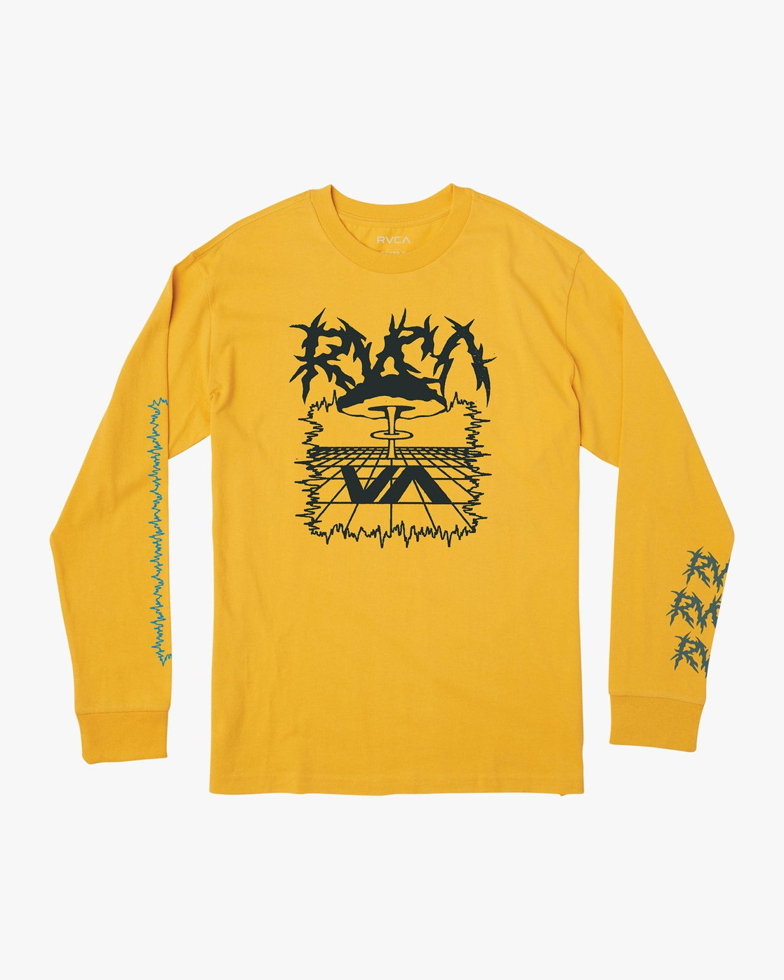 0 Nuke Long Sleeve T-Shirt Yellow M492VRNU RVCA