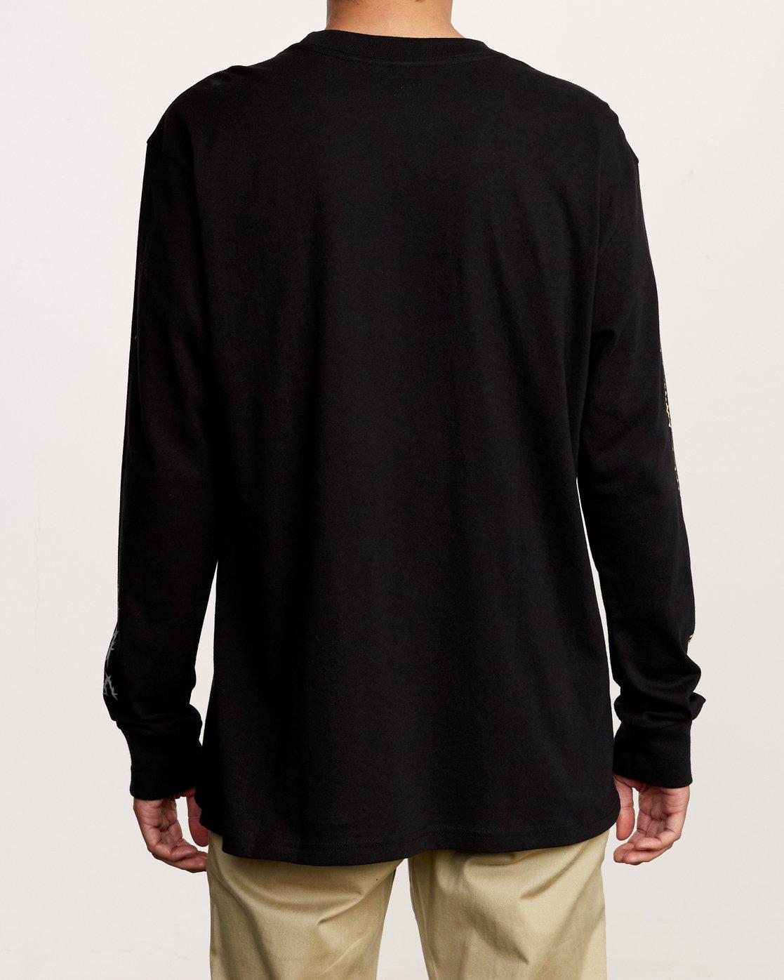 4 Nuke Long Sleeve T-Shirt Black M492VRNU RVCA