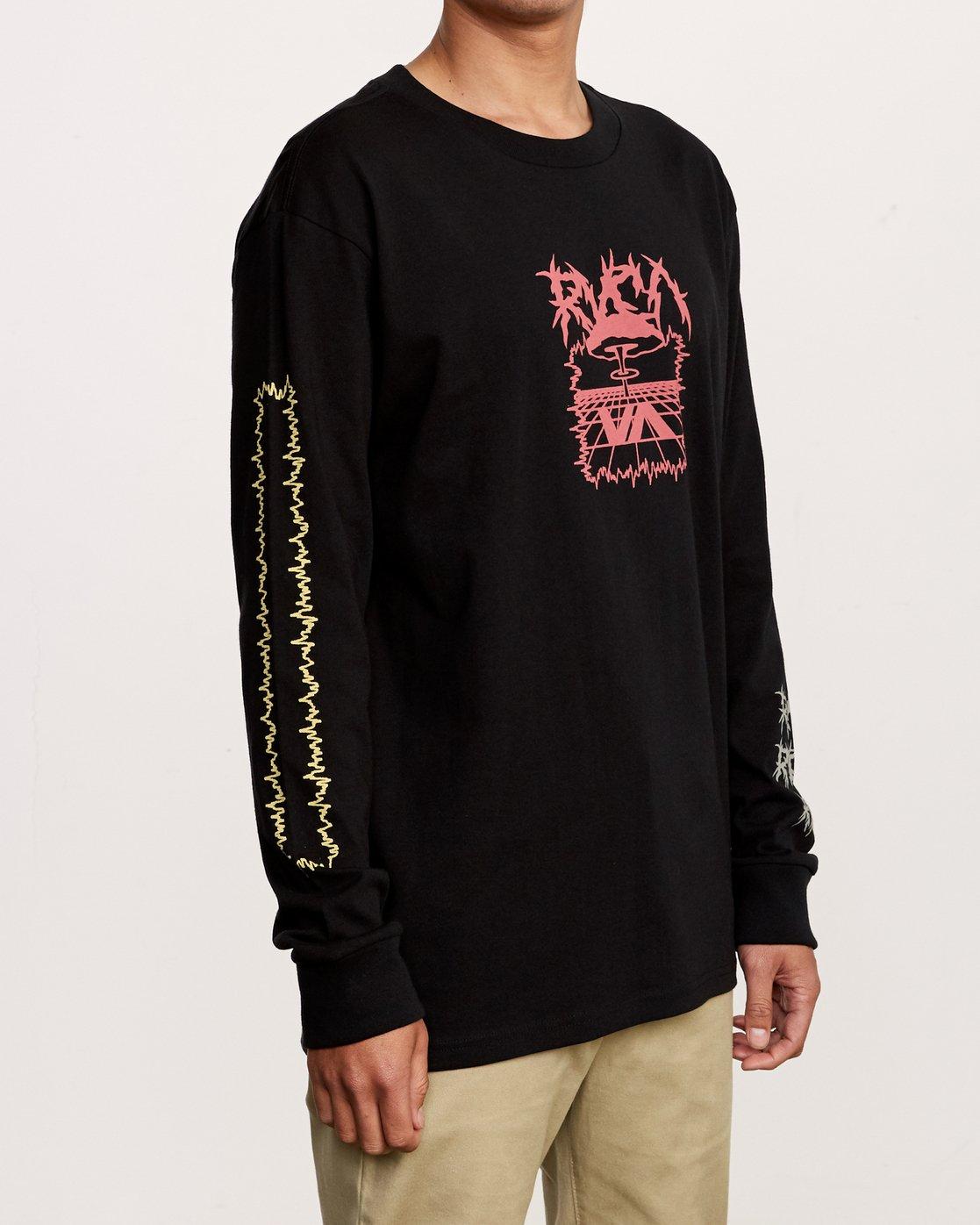 3 Nuke Long Sleeve T-Shirt Black M492VRNU RVCA