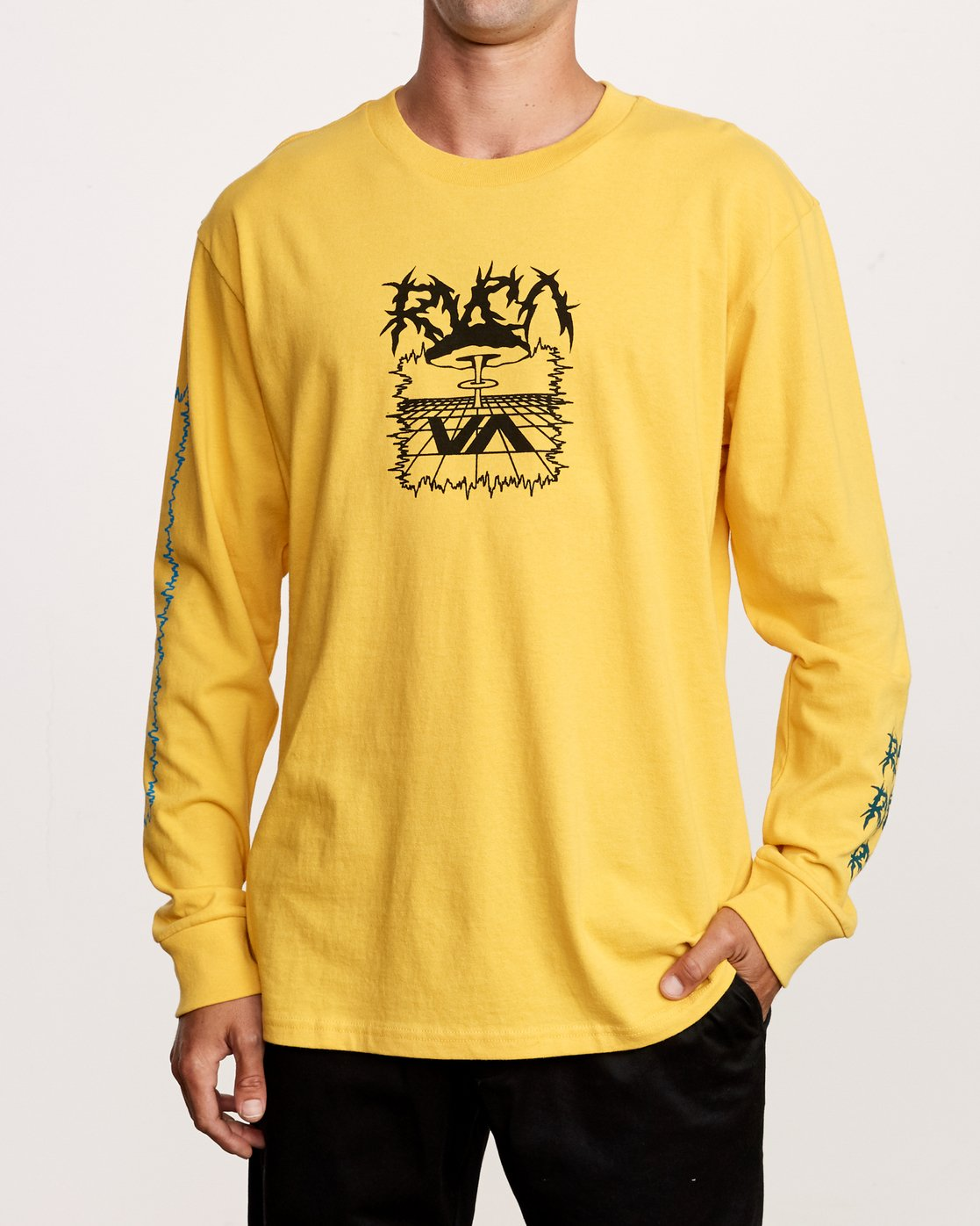 1 Nuke Long Sleeve T-Shirt Yellow M492VRNU RVCA
