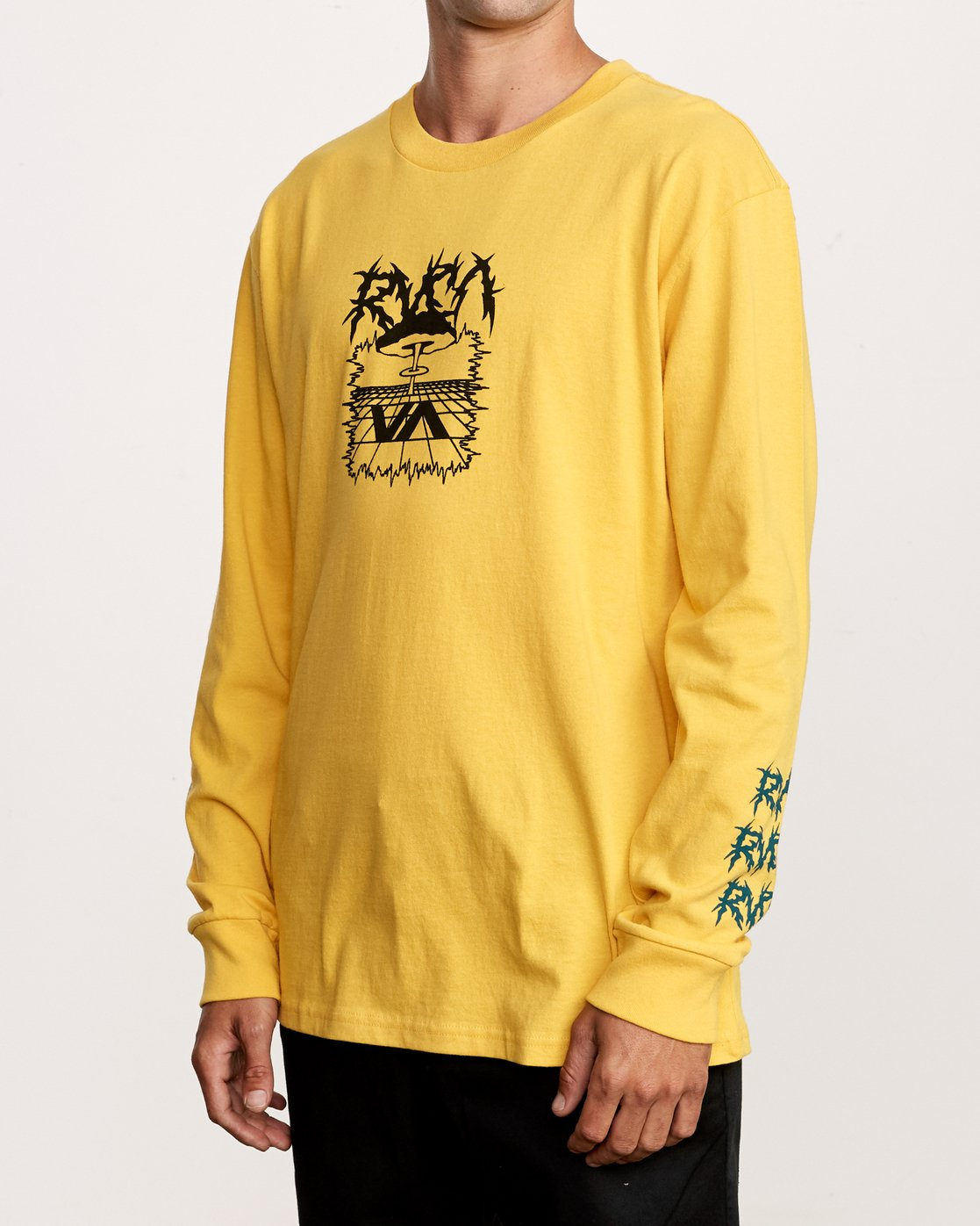 2 Nuke Long Sleeve T-Shirt Yellow M492VRNU RVCA