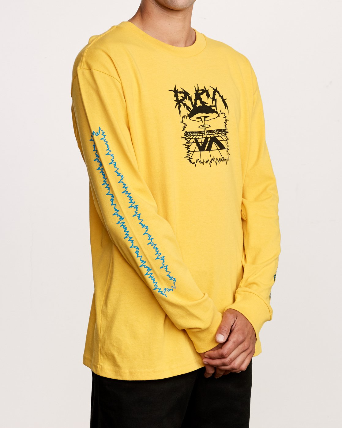 3 Nuke Long Sleeve T-Shirt Yellow M492VRNU RVCA