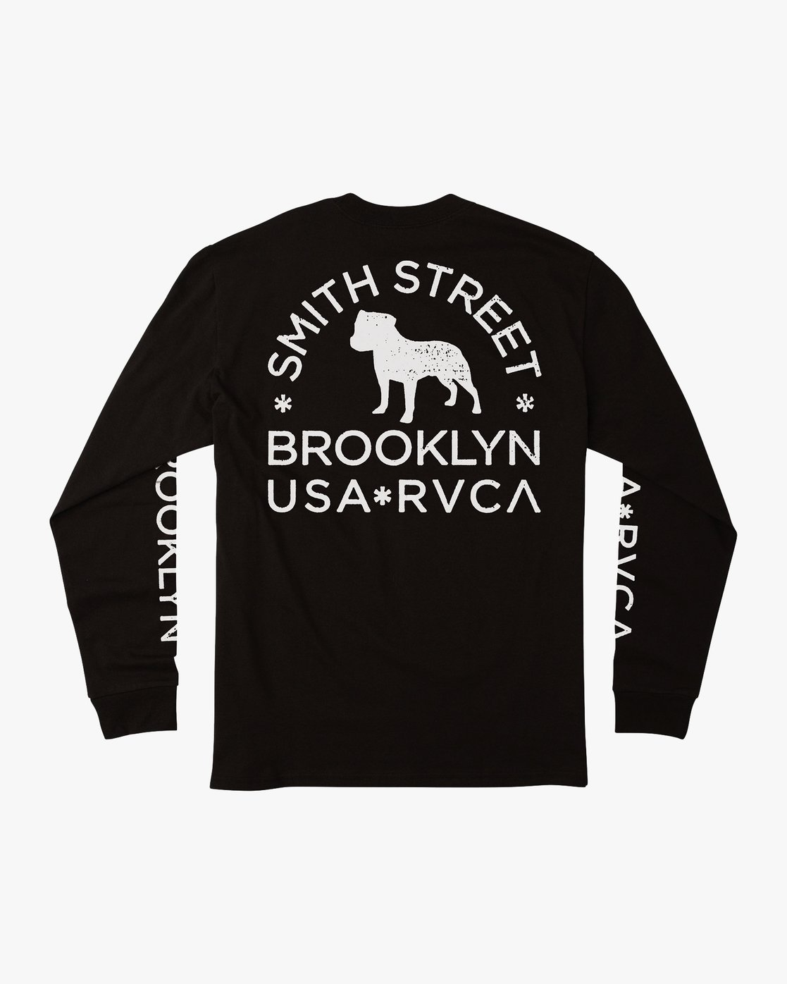 0 Smith Street Long Sleeve T-Shirt Black M492VRWI RVCA