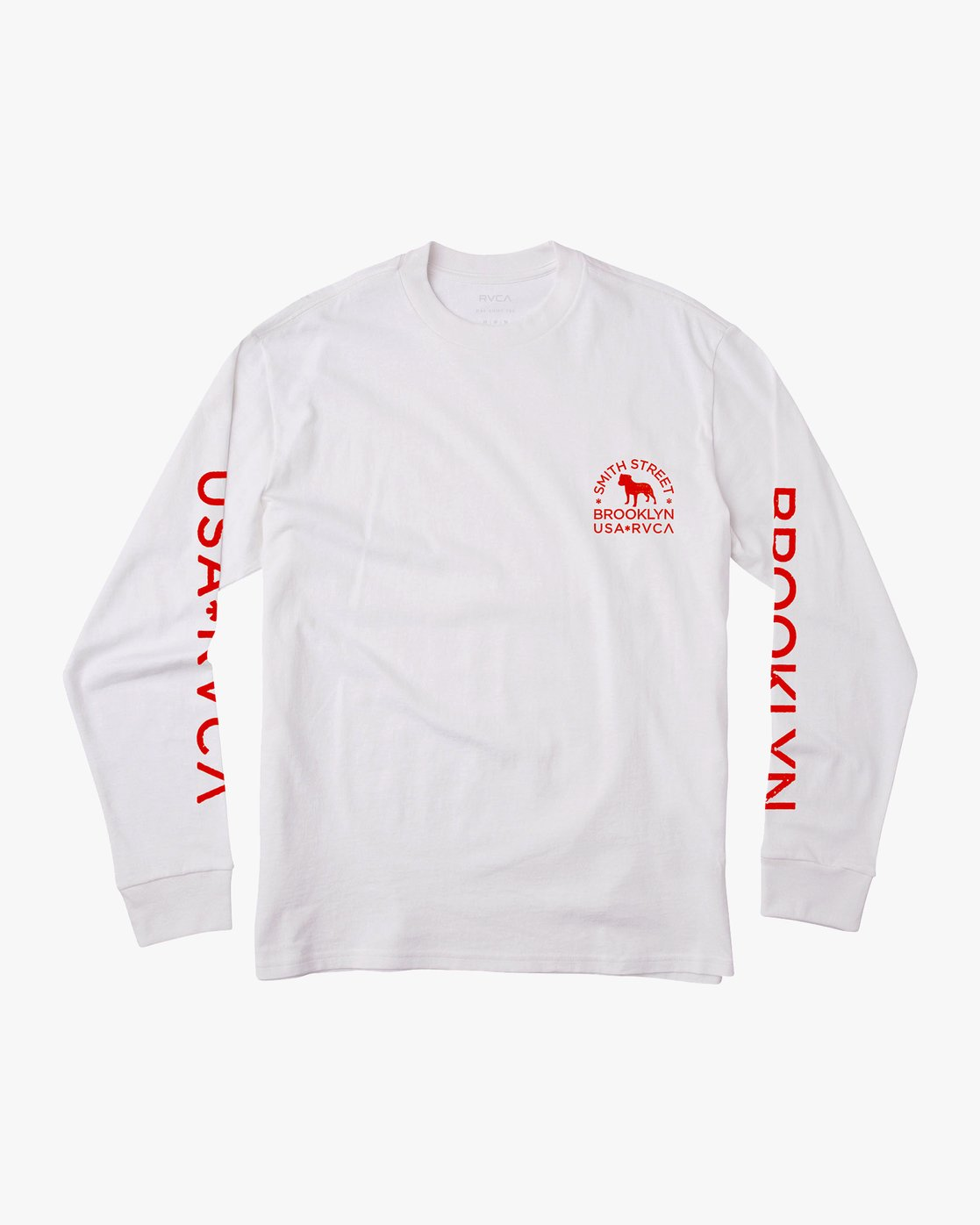 1 Smith Street Long Sleeve T-Shirt White M492VRWI RVCA