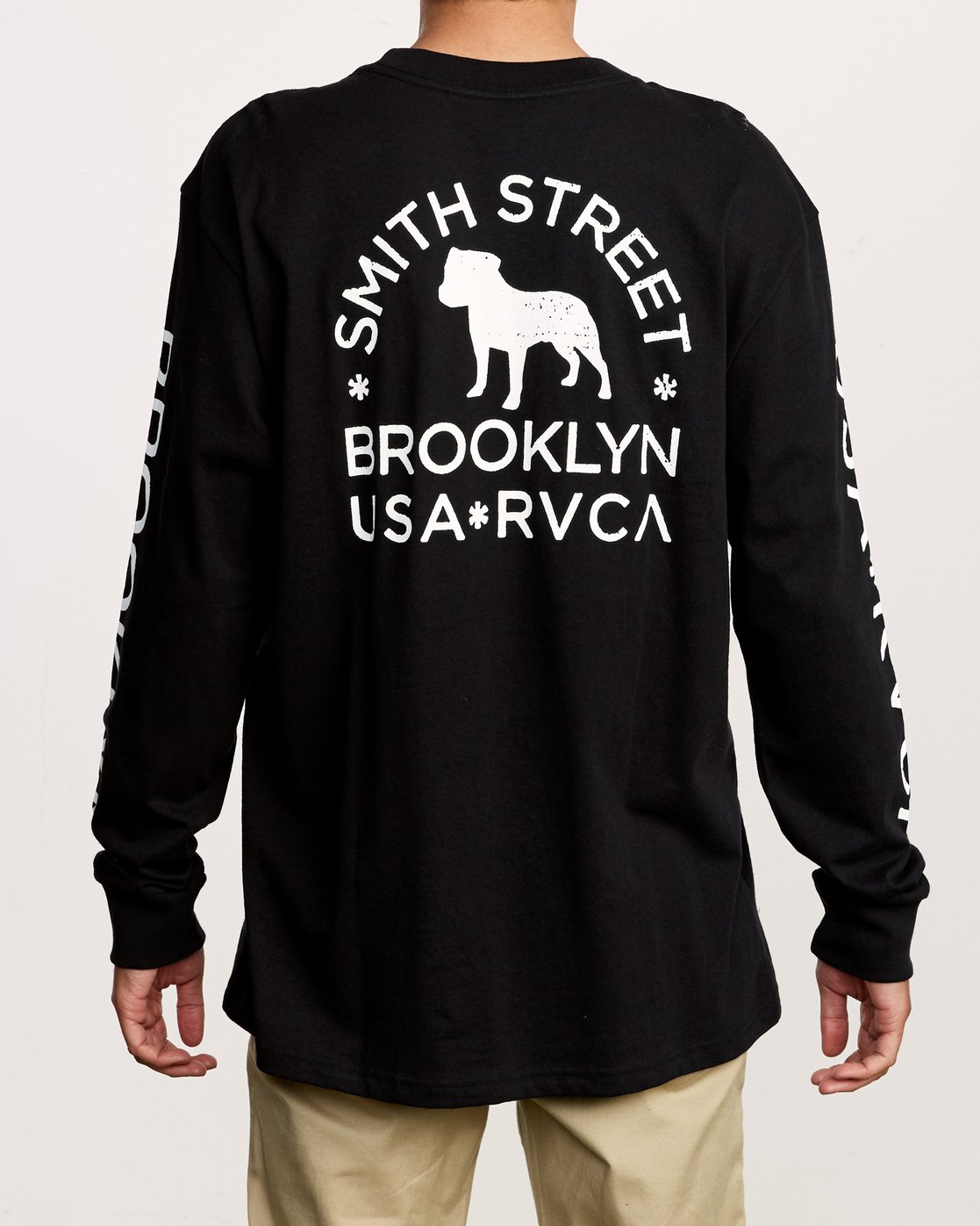 6 Smith Street Long Sleeve T-Shirt Black M492VRWI RVCA