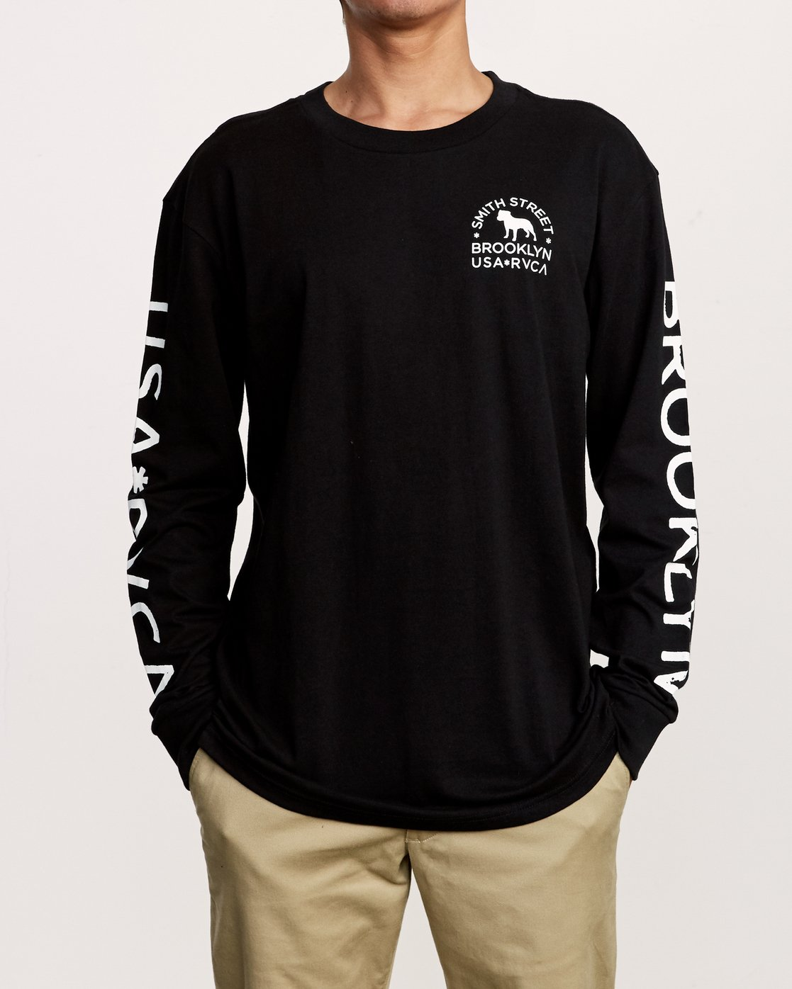 3 Smith Street Long Sleeve T-Shirt Black M492VRWI RVCA