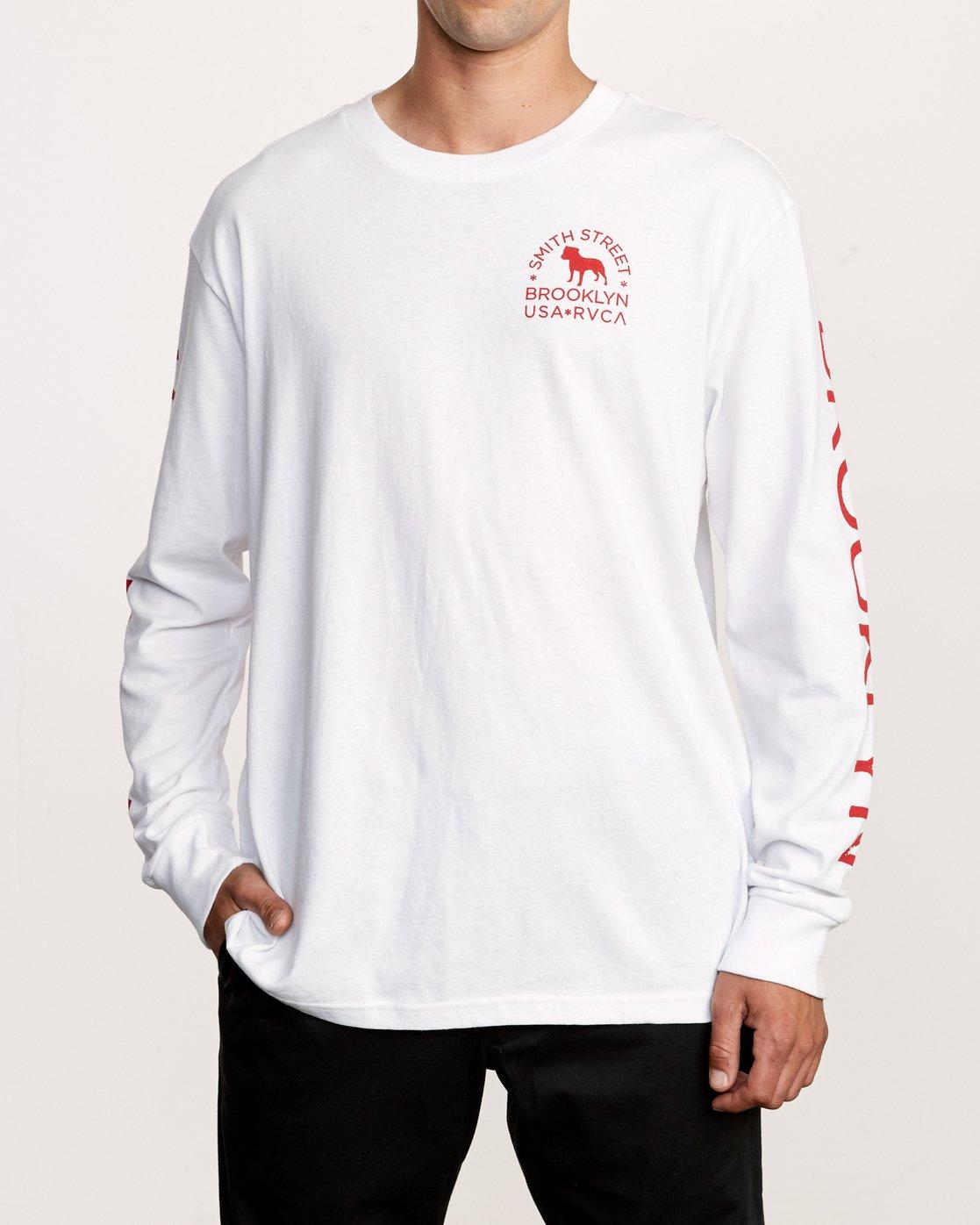2 Smith Street Long Sleeve T-Shirt White M492VRWI RVCA