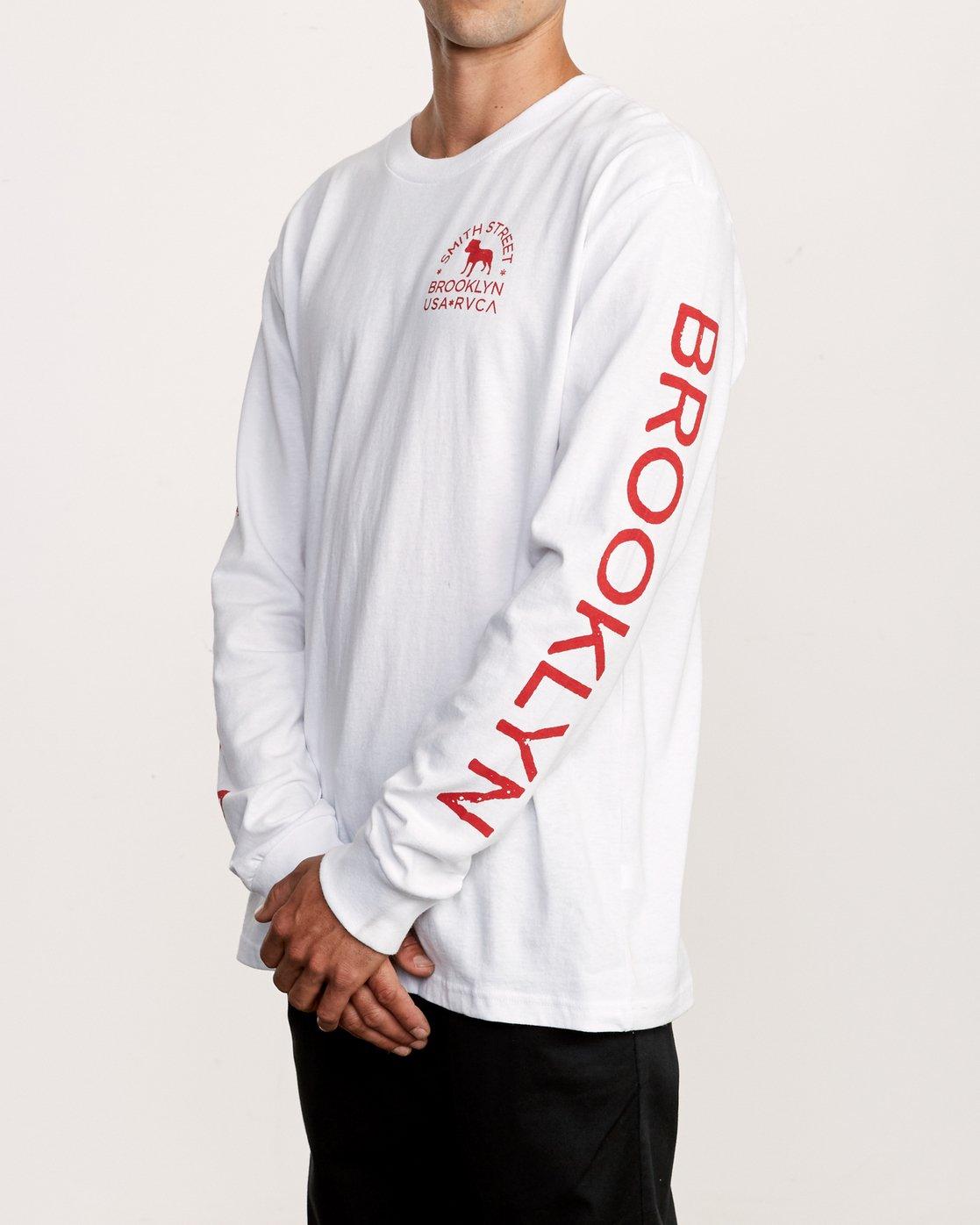 3 Smith Street Long Sleeve T-Shirt White M492VRWI RVCA