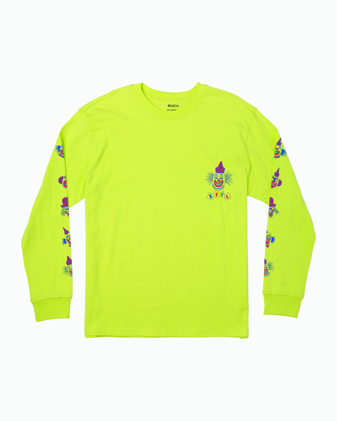 1 Big Top Long Sleeve T-Shirt Yellow M492WRBT RVCA