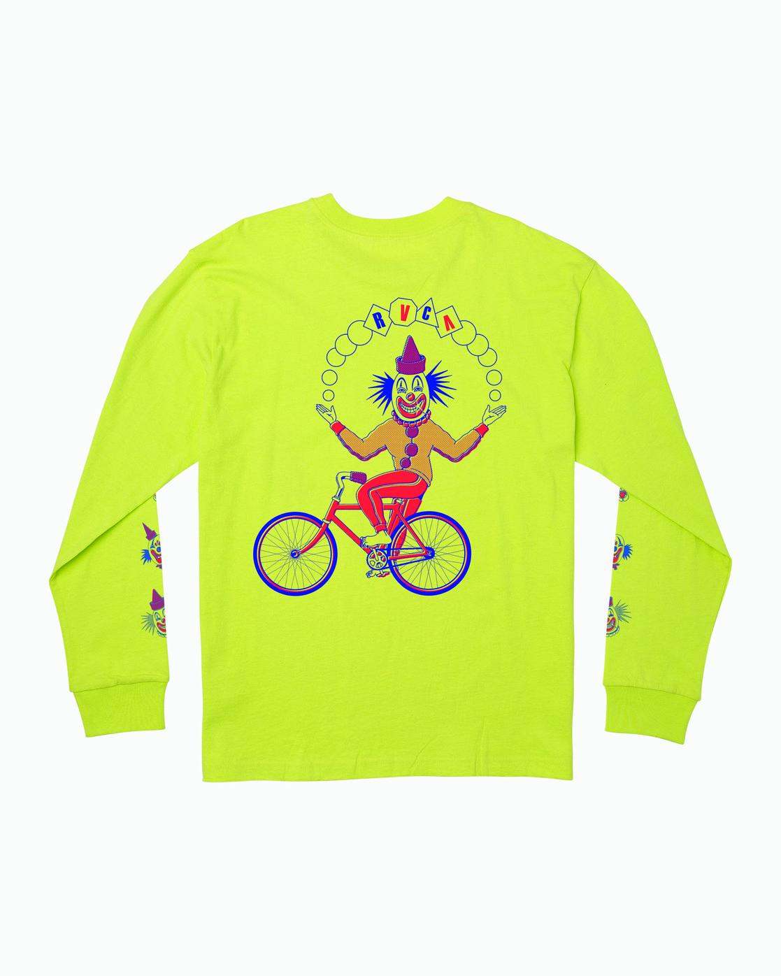 0 Big Top Long Sleeve T-Shirt Yellow M492WRBT RVCA