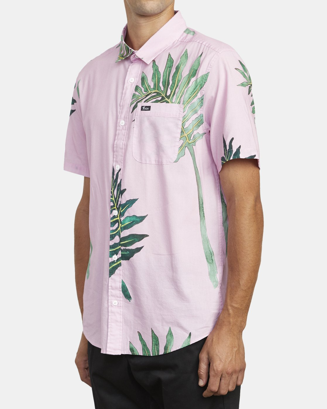 3 ROZICH SHORT SLEEVE SHIRT Pink M5013RRS RVCA