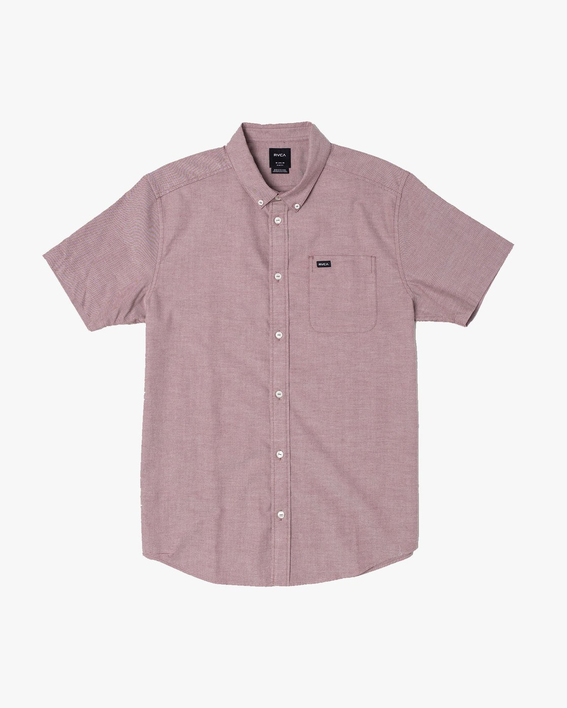 2 THAT'LL DO STRETCH BUTTON-UP SHIRT Red M501VRTD RVCA