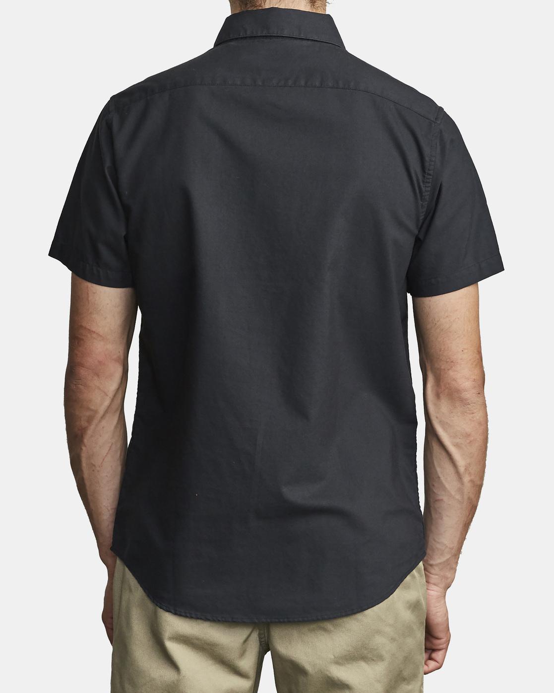 6 That'll Do Stretch Button-Up Shirt Black M501VRTD RVCA