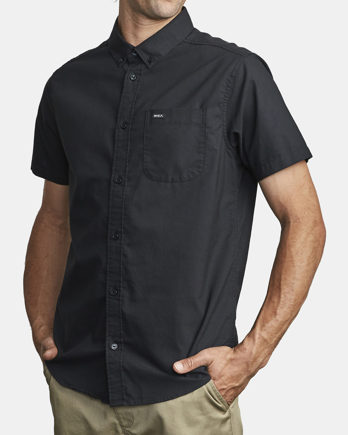 8 That'll Do Stretch Button-Up Shirt Black M501VRTD RVCA