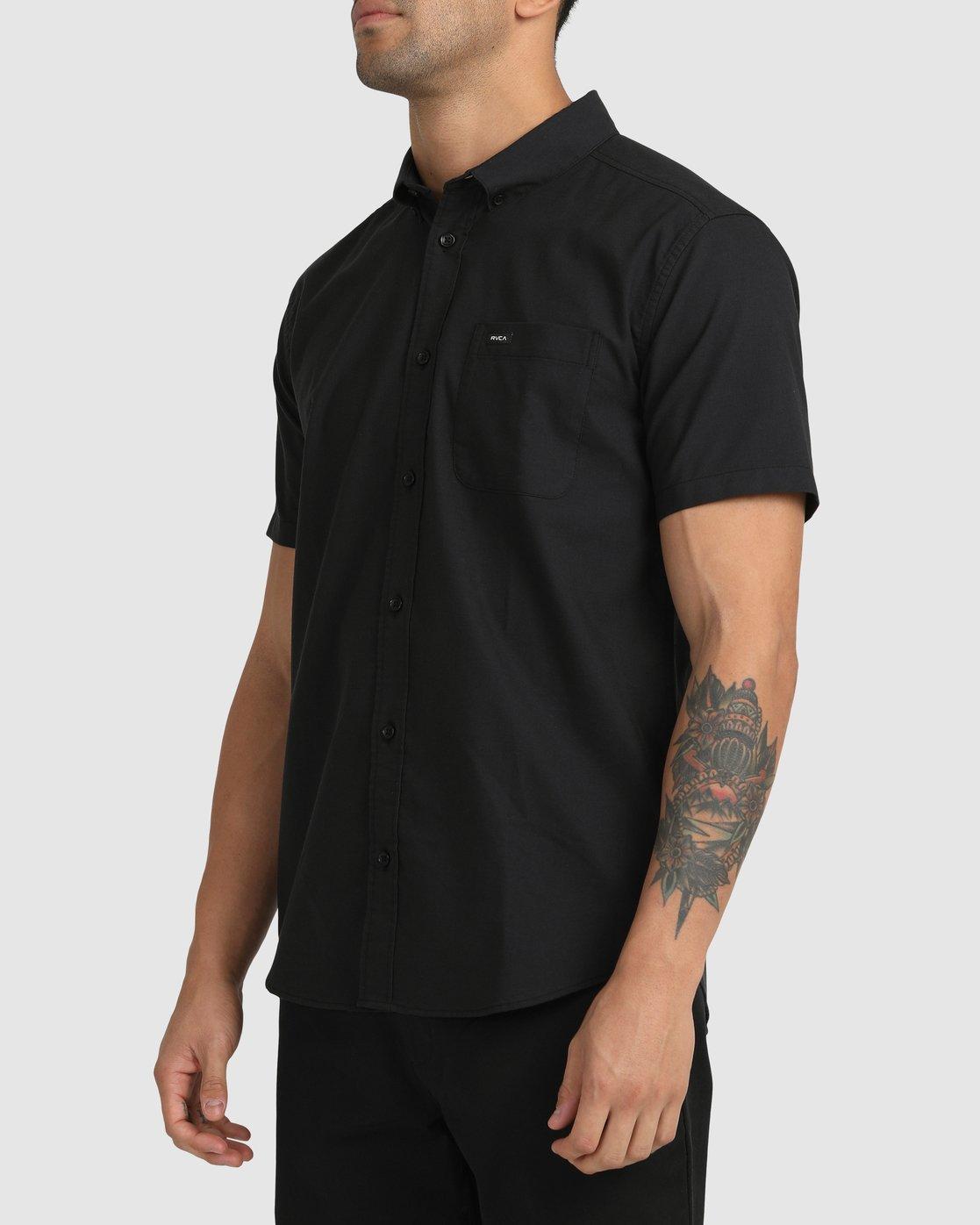 9 That'll Do Stretch Button-Up Shirt Black M501VRTD RVCA