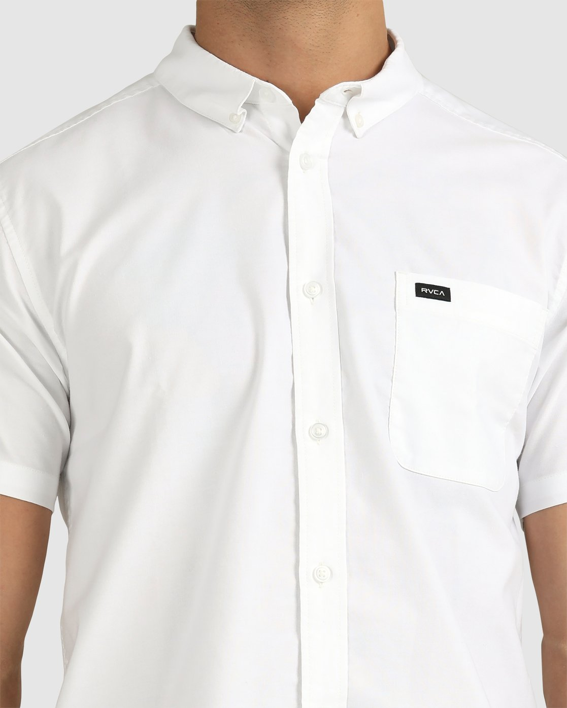 9 That'll Do Stretch Button-Up Shirt White M501VRTD RVCA