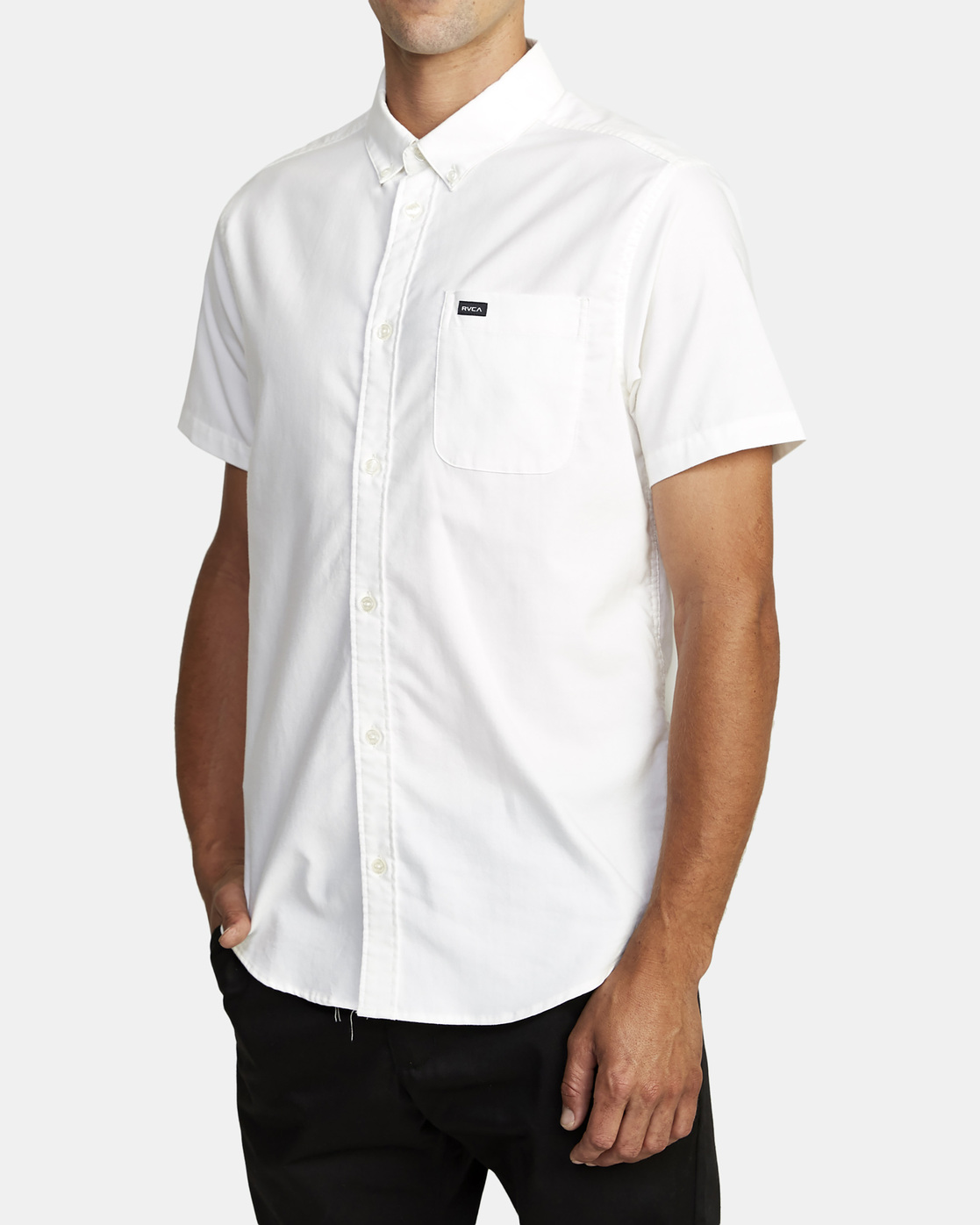 10 That'll Do Stretch Button-Up Shirt White M501VRTD RVCA