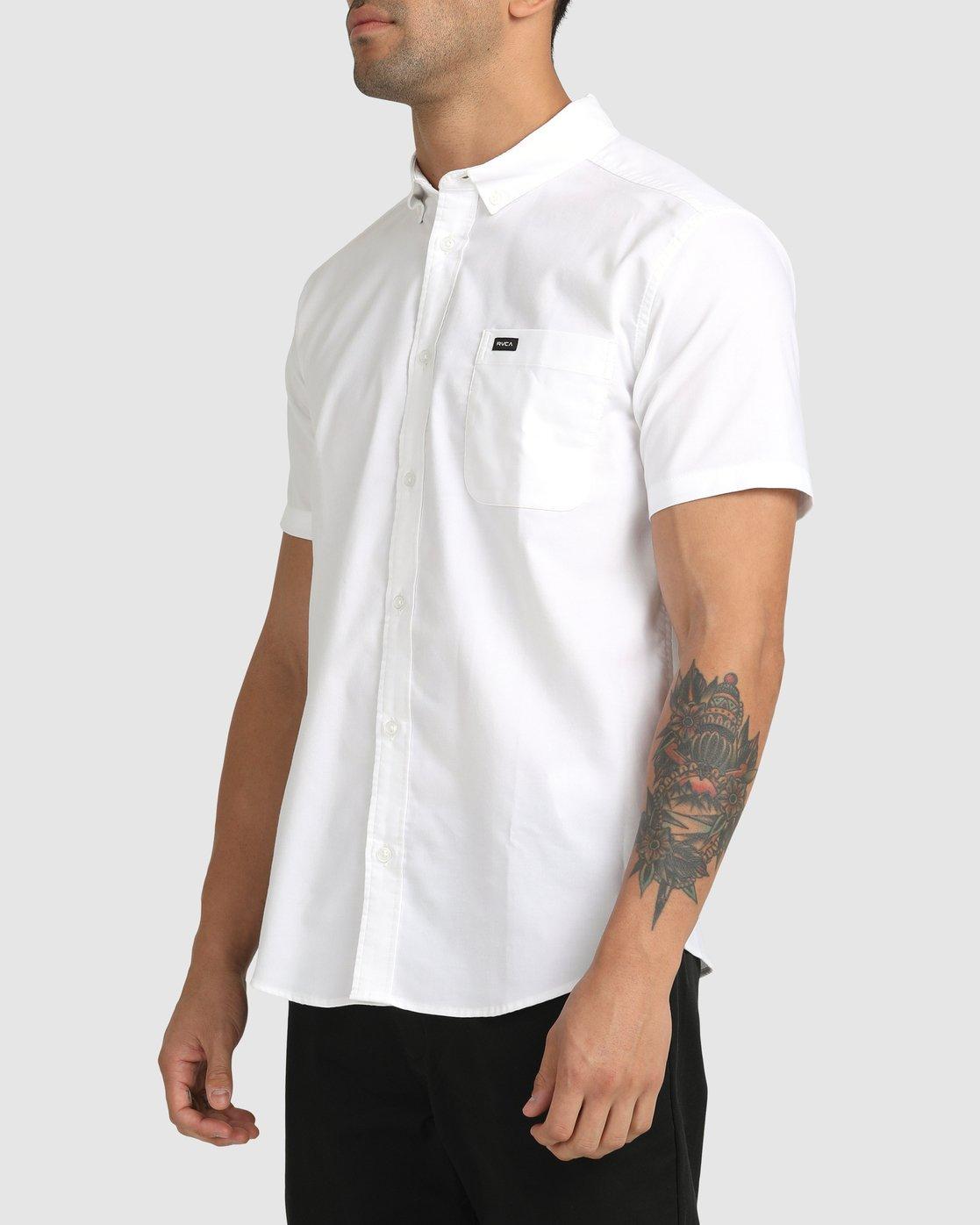 11 That'll Do Stretch Button-Up Shirt White M501VRTD RVCA