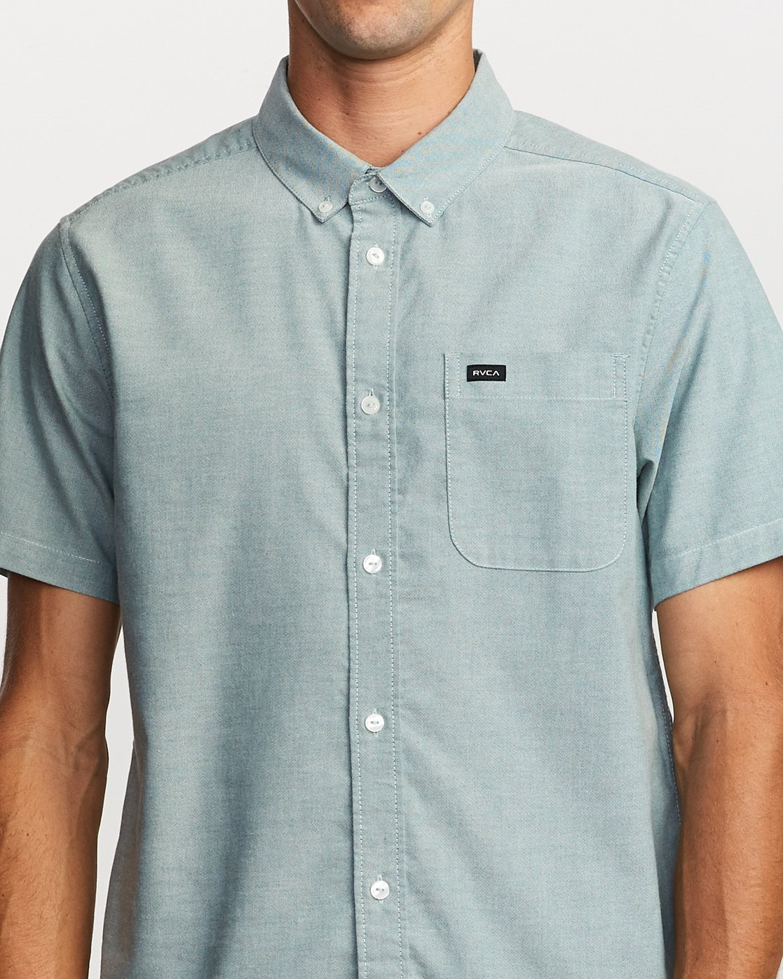 4 That'll Do Stretch Button-Up Shirt Green M501VRTD RVCA