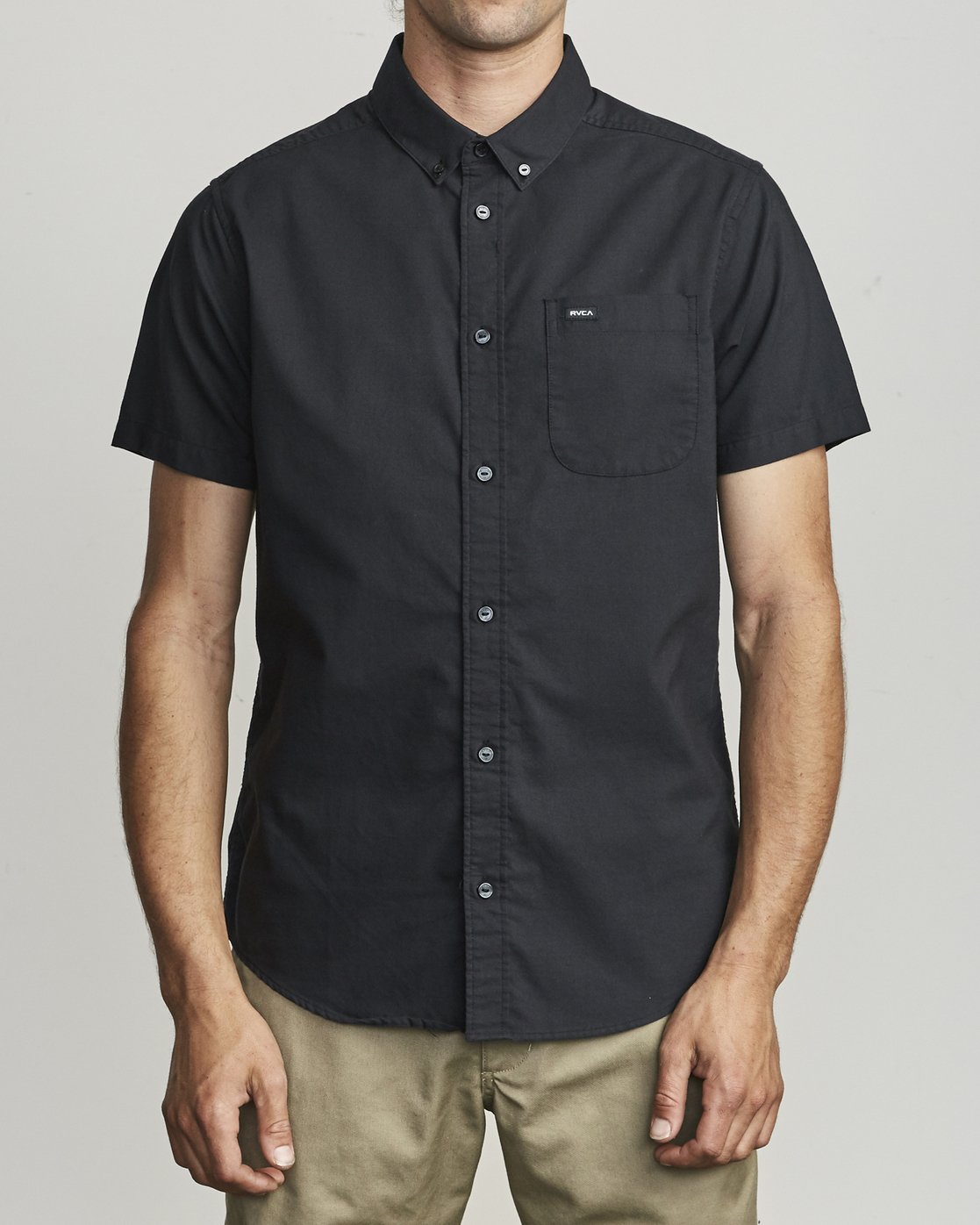 1 That'll Do Stretch Button-Up Shirt Black M501VRTD RVCA