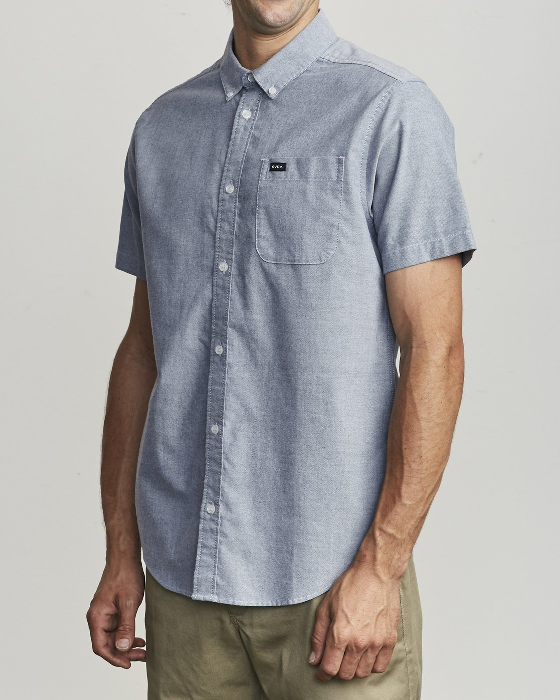 3 That'll Do Stretch Button-Up Shirt Blue M501VRTD RVCA