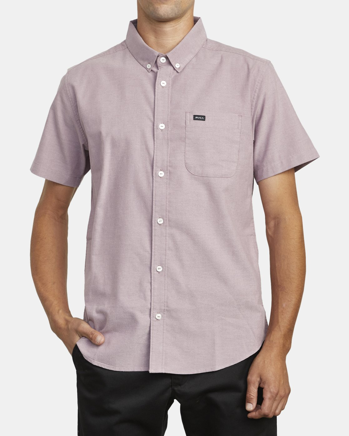 1 THAT'LL DO STRETCH BUTTON-UP SHIRT Red M501VRTD RVCA