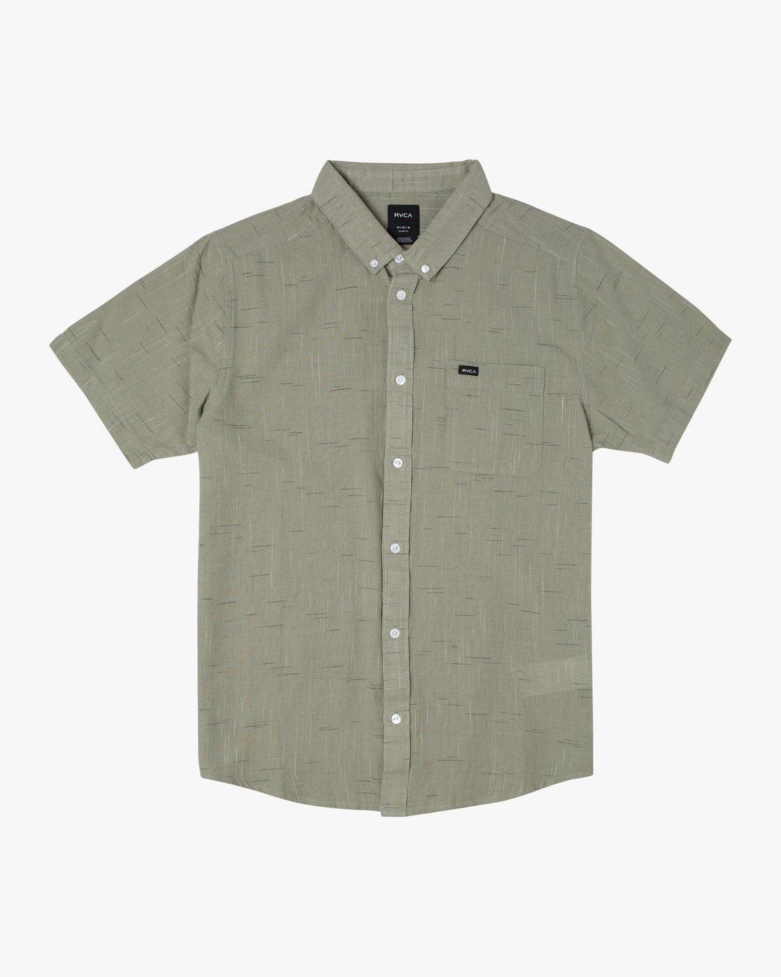8 That'll Do Textured Button-Up Shirt Green M501VRTT RVCA