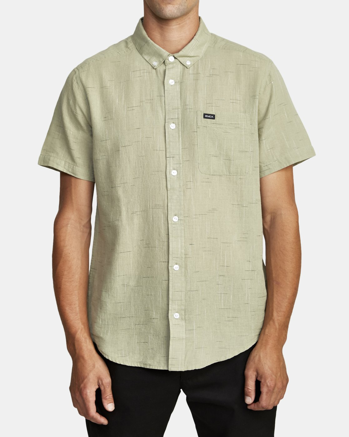 0 That'll Do Textured Button-Up Shirt Green M501VRTT RVCA