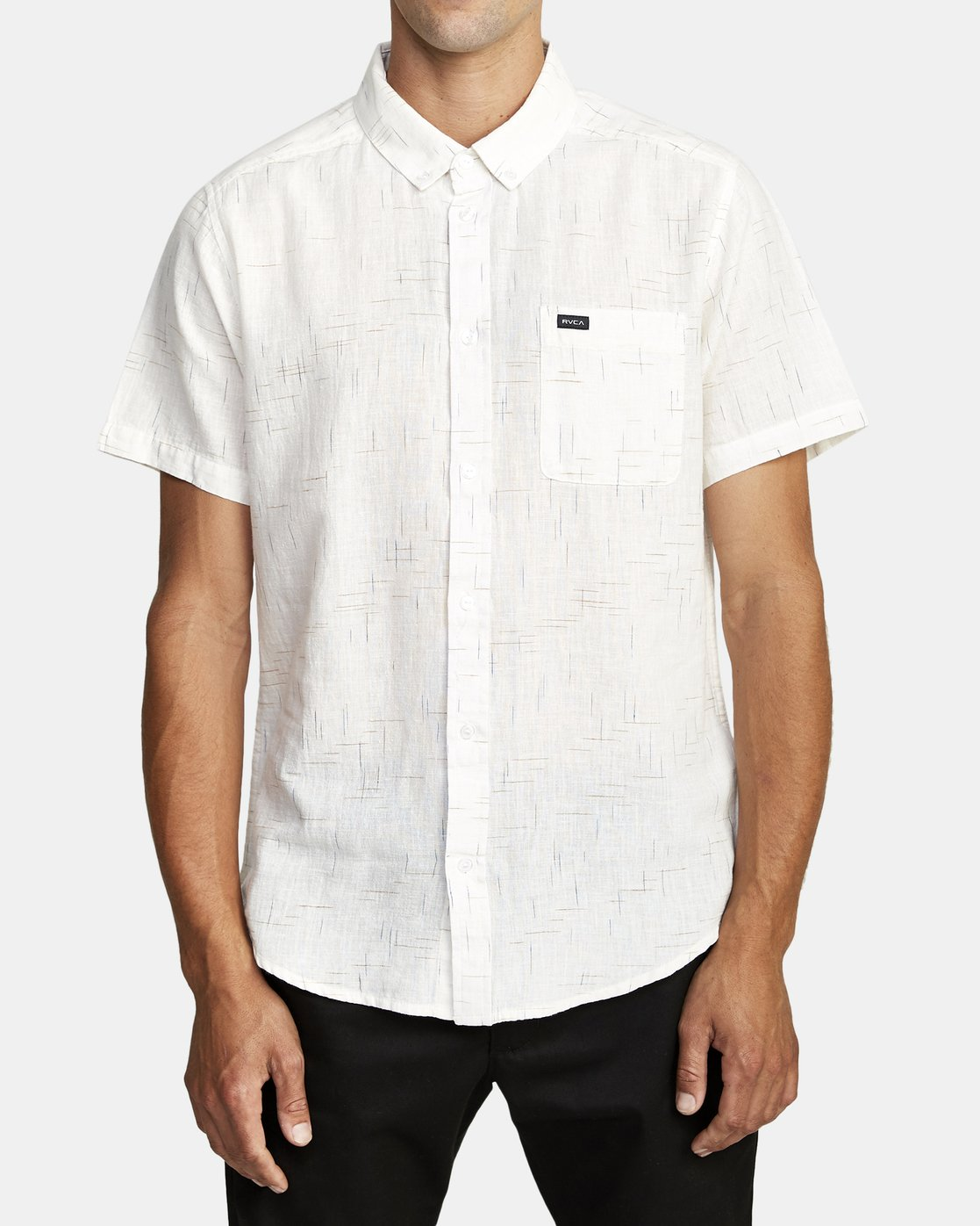 0 That'll Do Textured Button-Up Shirt White M501VRTT RVCA
