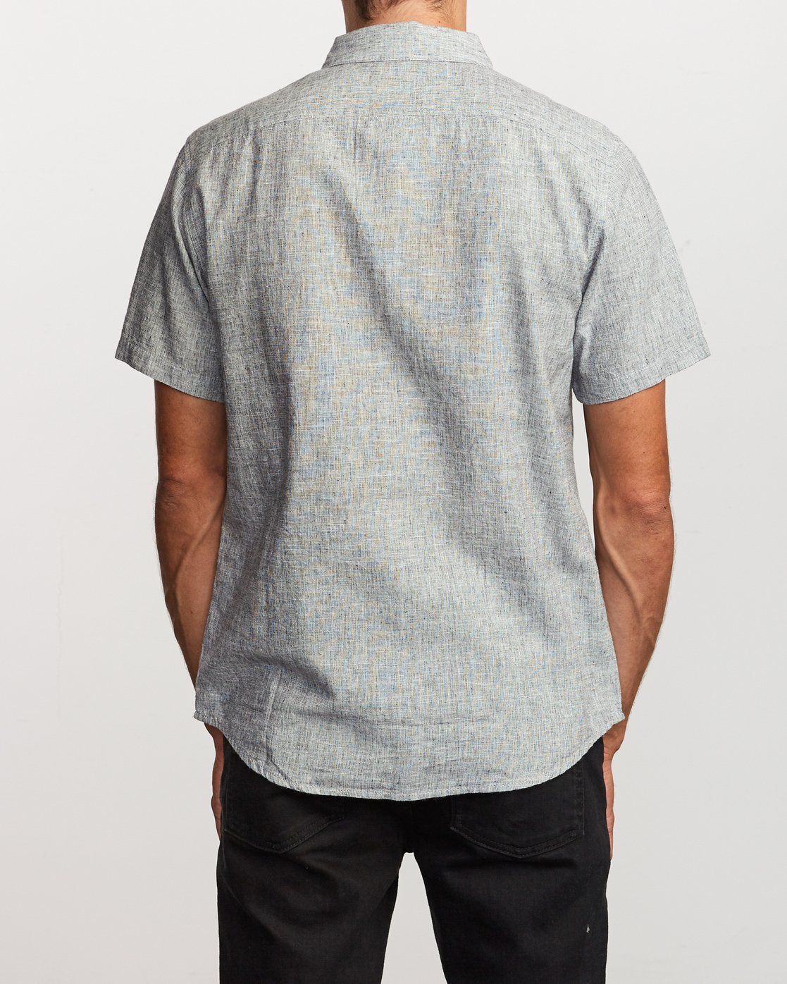 3 That'll Do Textured Button-Up Shirt White M501VRTT RVCA