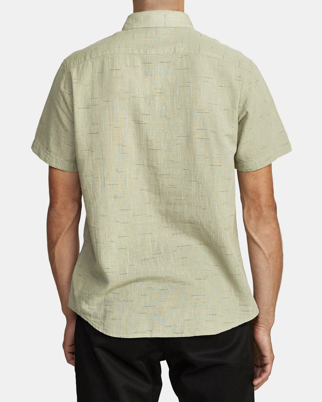 5 That'll Do Textured Button-Up Shirt Green M501VRTT RVCA
