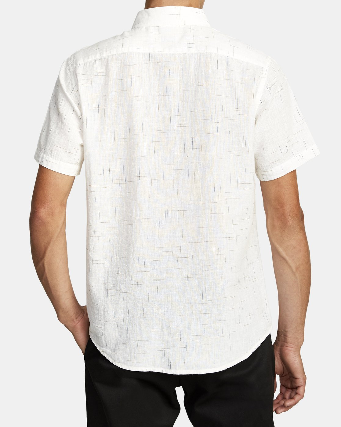 6 That'll Do Textured Button-Up Shirt White M501VRTT RVCA