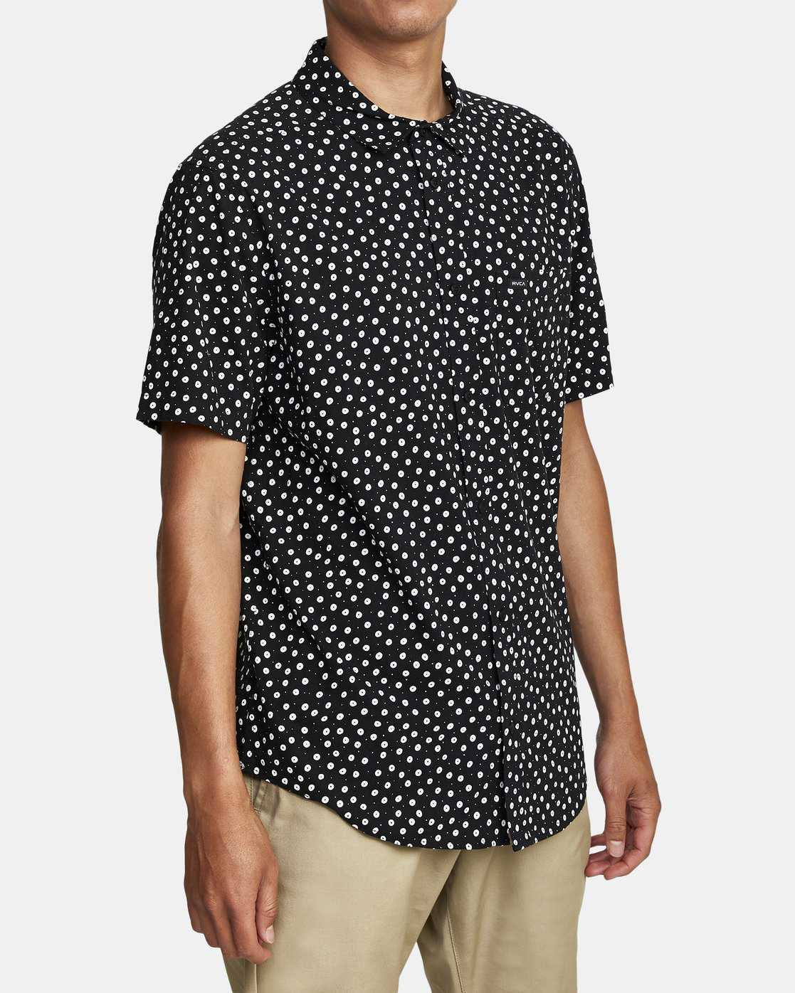 3 Costello Floral Button-Up Shirt Black M501WRCO RVCA